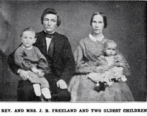Early Freeland Family Portrait (Mariet Hardy Freeland, top right)
