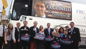 The Duggar family campaigned for Ken Cuccinelli, the 2013 Republican candidate for governer in Virginia.  In the past few years the Duggars have used their celeberity status from their show to help campaign for conservative political candidates.